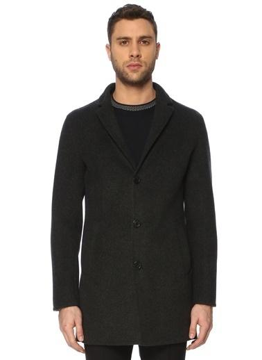 NetWork NetWork 1071512 Slim Fit Siyah Antrasit Palto Erkek Palto Antrasit